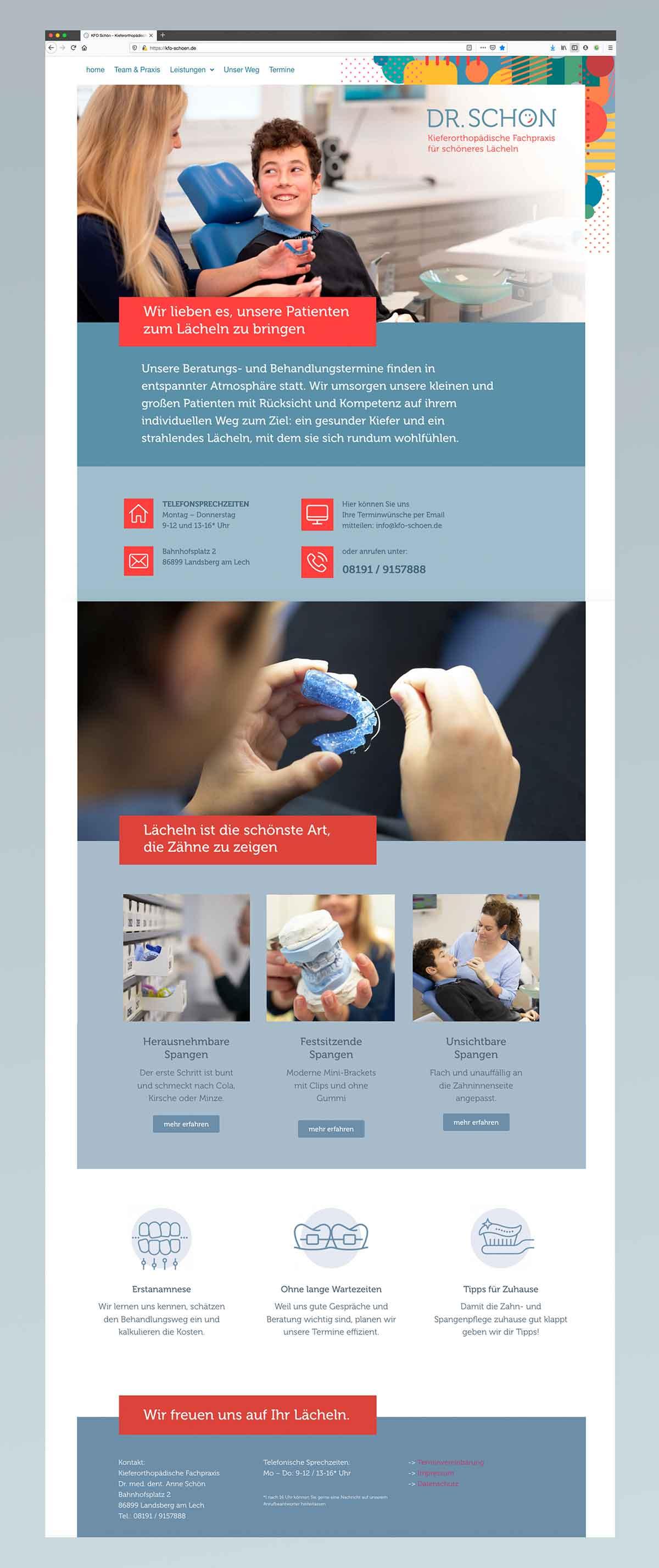 homepage Dr. Anne Schön - Konzept und Design Carmen Christ