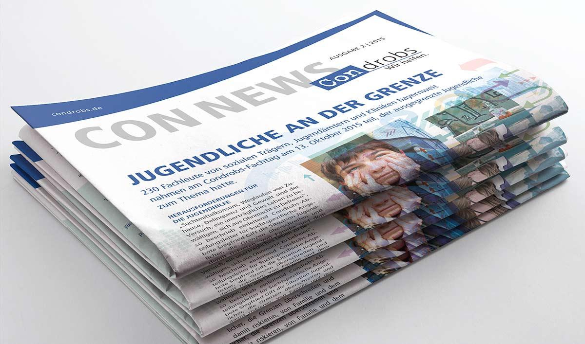 ConNews Stapel von Zeitschriften - Editorial Design Carmen Christ
