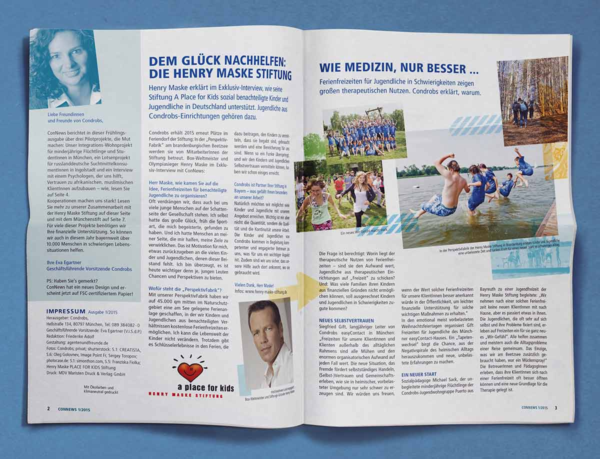 Editorial Design c-c-design.de - ConNews Innenansicht
