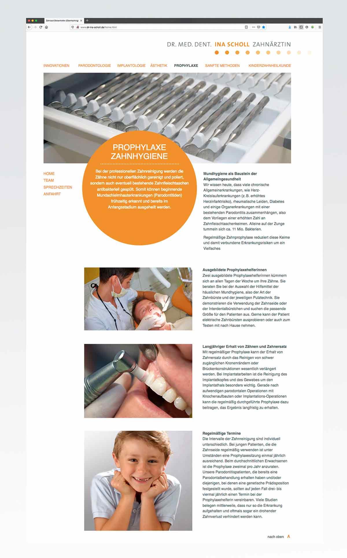 Design für Webseite von c-c-design.de