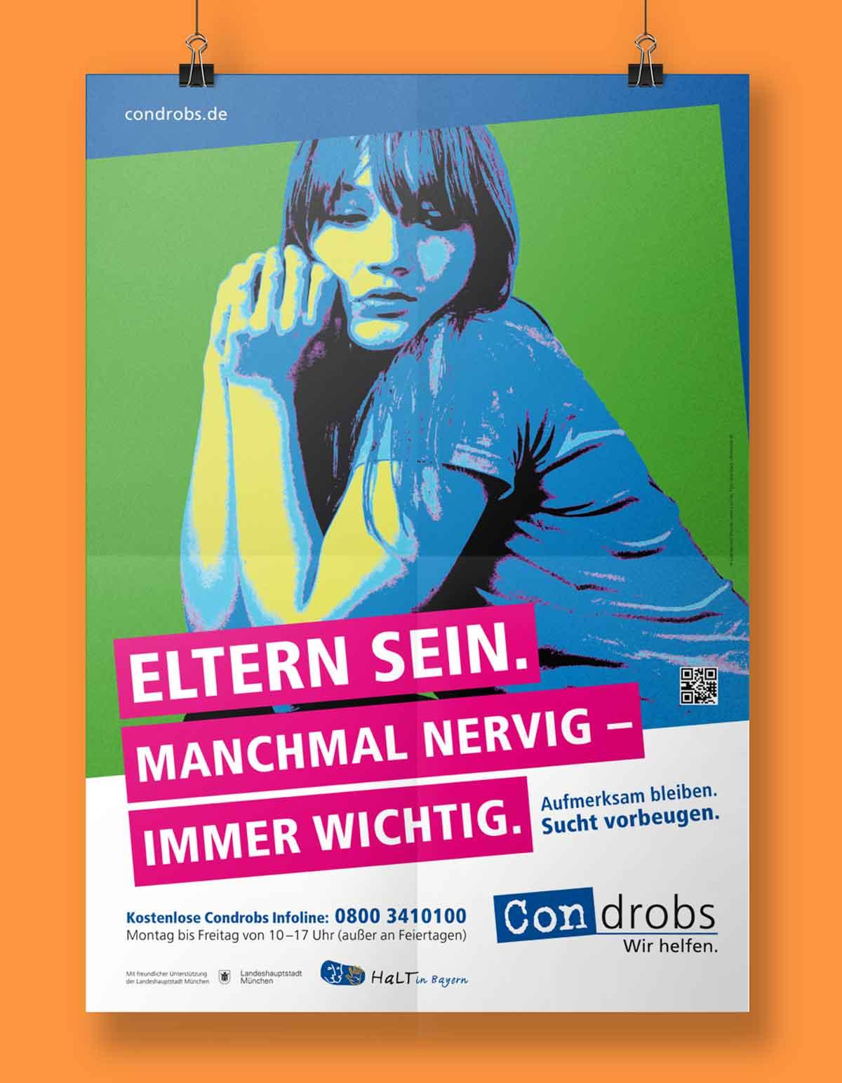 Eltern Sein. Manchmal nervig - Immer wichtig. Plakat von condrobs - Design von c-c-design.de