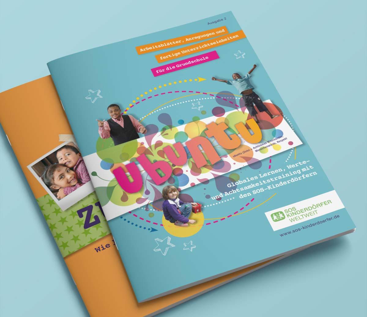 Verschiedene Hefte von SOS Kinderdörfer | c-c-design.de