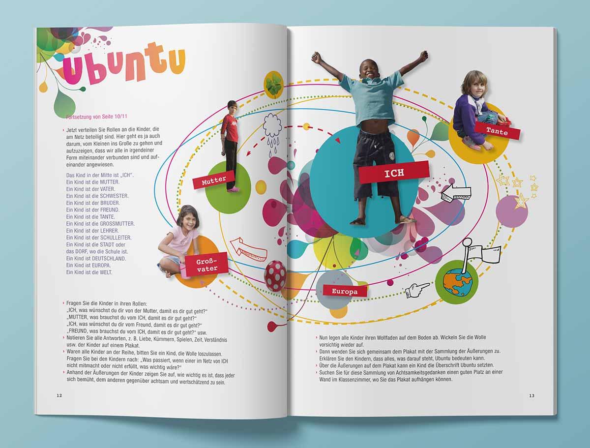 Design für SOS Kinderdörfer Heft, Innenansicht