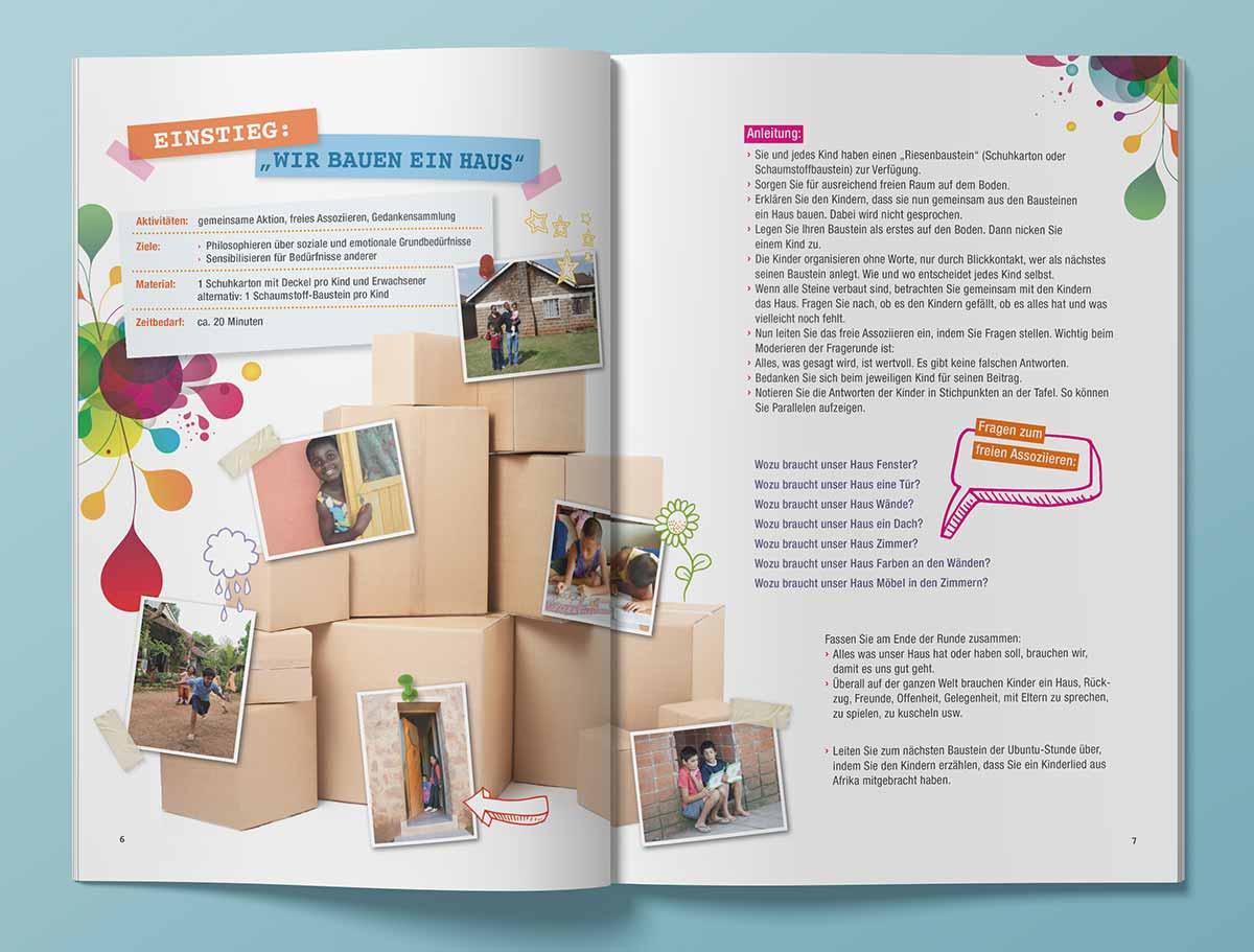 Innenansicht von SOS Kinderdörfer Heft
