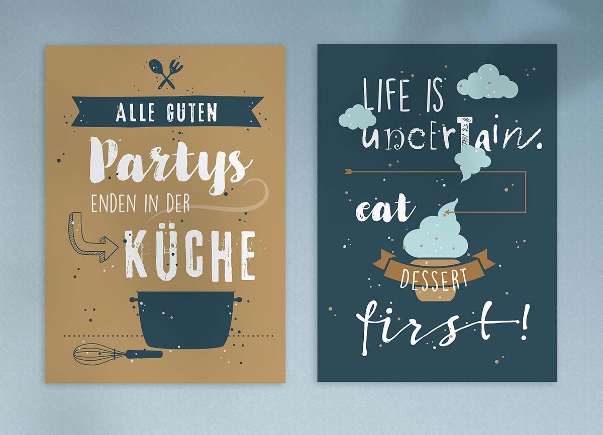 Zwei Postkarten von Naumann - Design von c-c-design.de