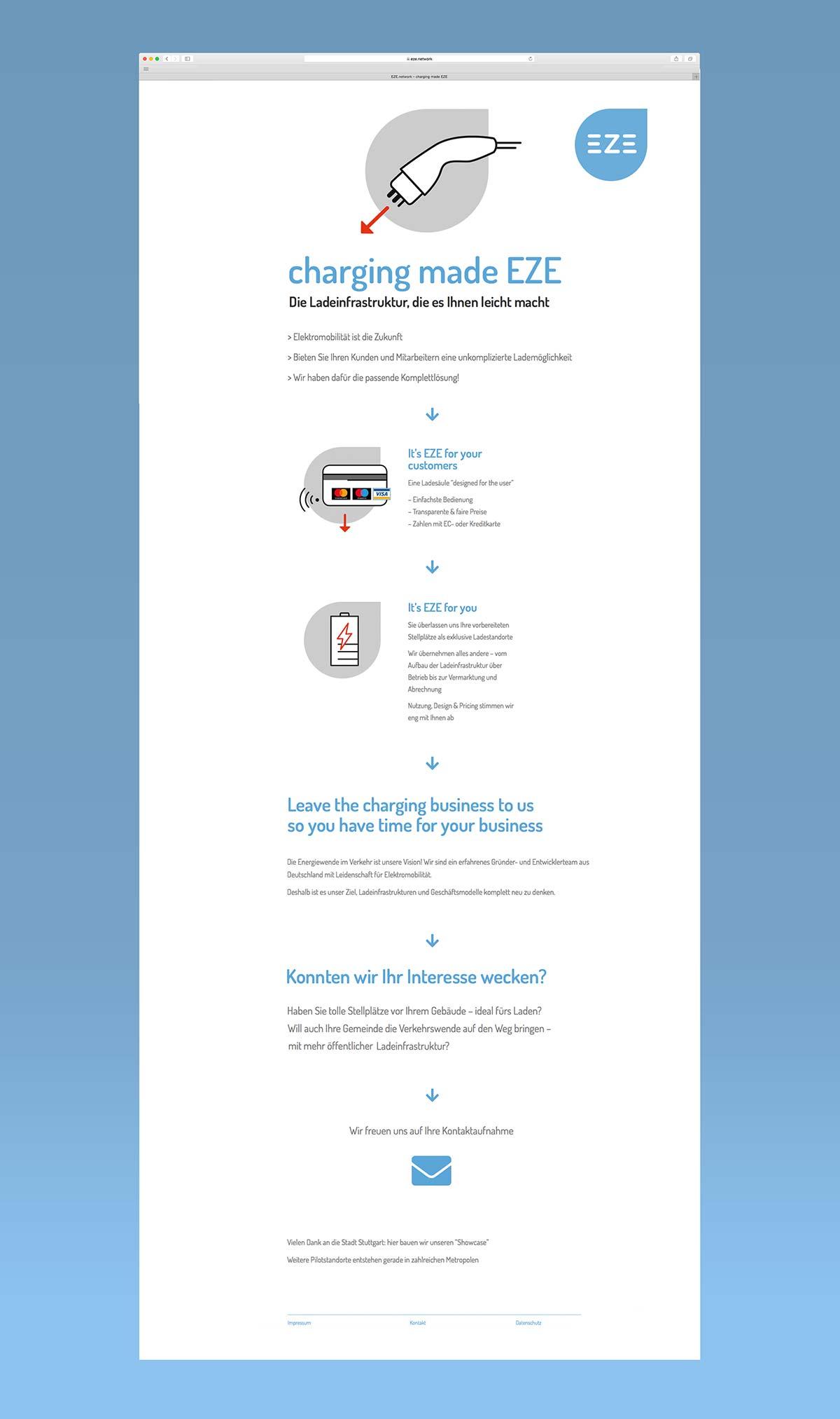 eze charging - Webseitendesign by c-c-design.de