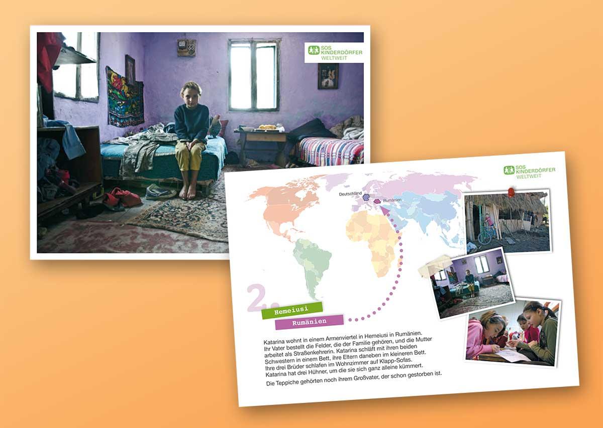 Design für SOS Kinderdörfer