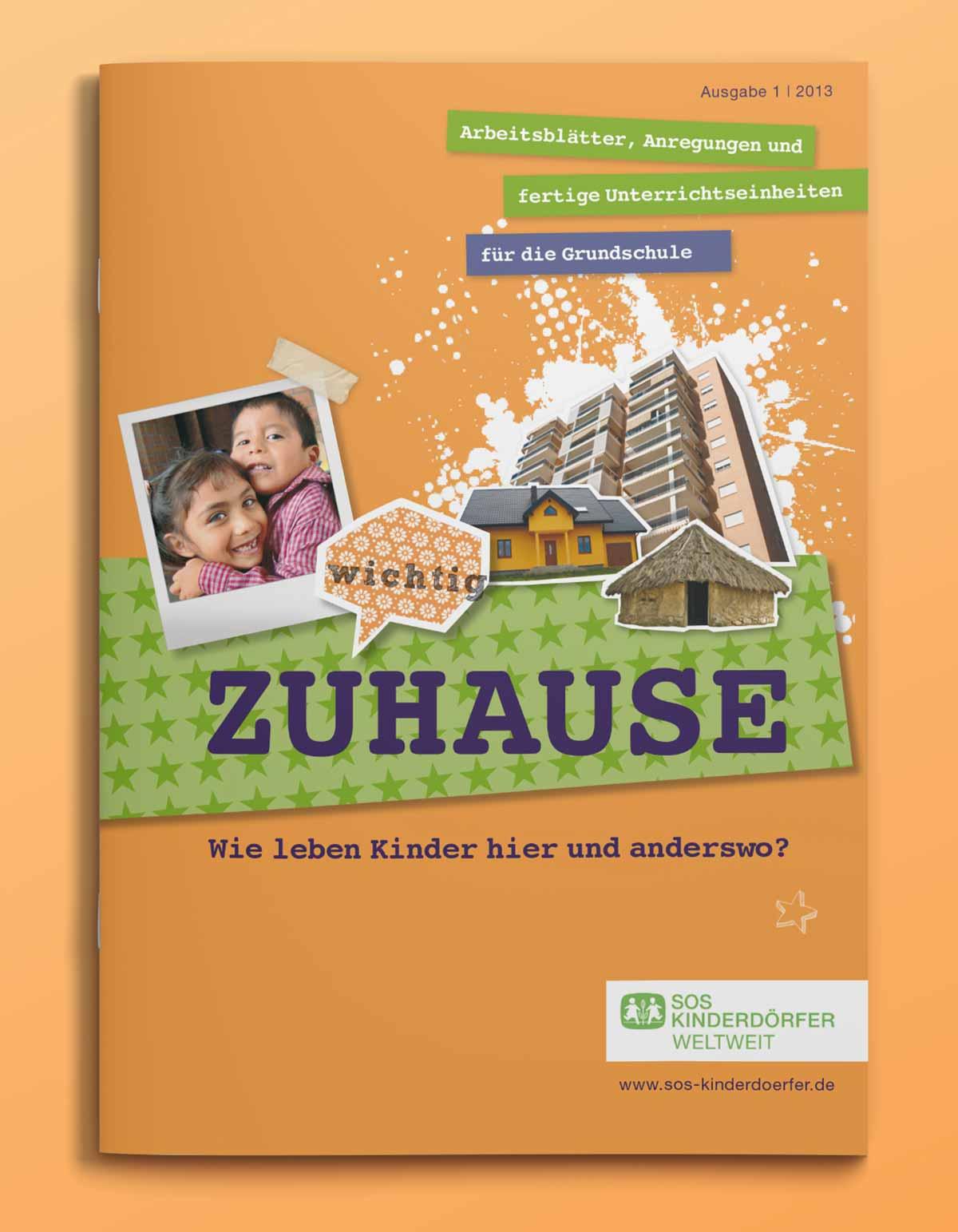 Heft SOS Kinderdörfer Zuhause | c-c-design.de