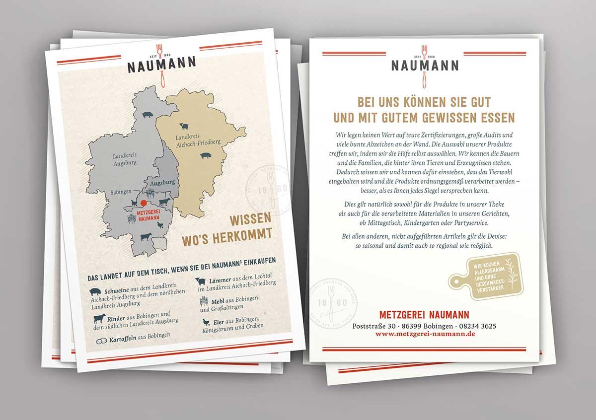 Flyer für Metzgerei Naumann - Design von c-c-design.de