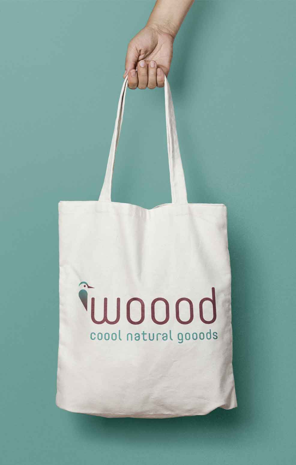 Wooood Stofftasche - Logodesign by c-c-design.de