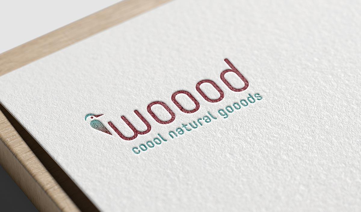 Wooods gooods Logo auf papier - c-c-design.de