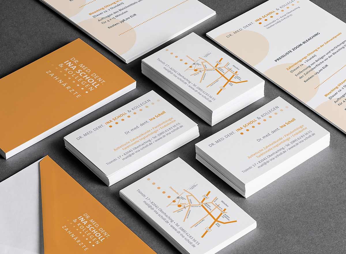 Visitenkarten, Flyer und Coporate Design - Grafik Designerin Carmen Christ