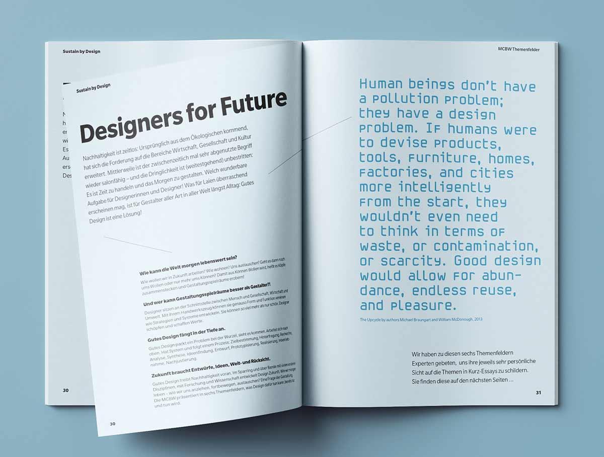 Designers for Future - Innenansicht Magazin