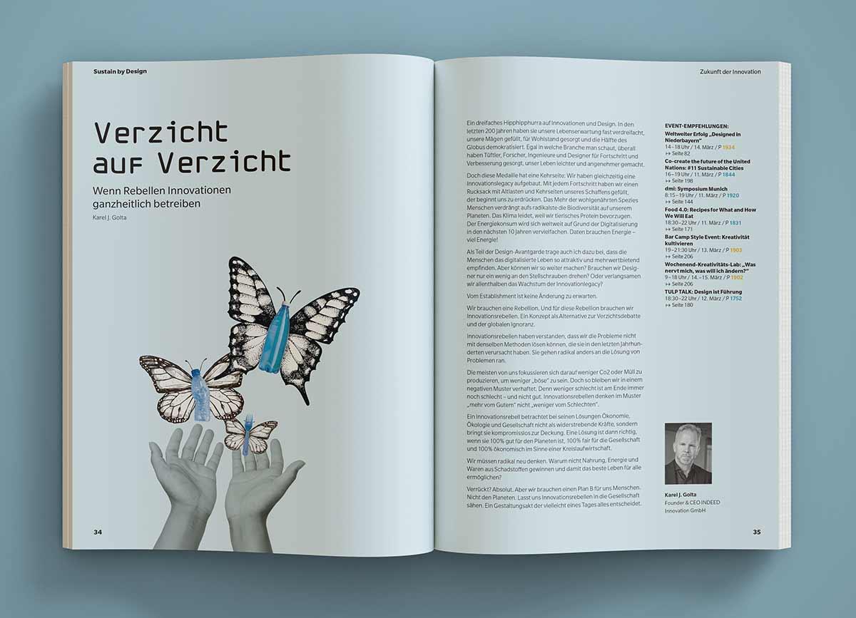 Sustain by Design - Innenansicht Magazin