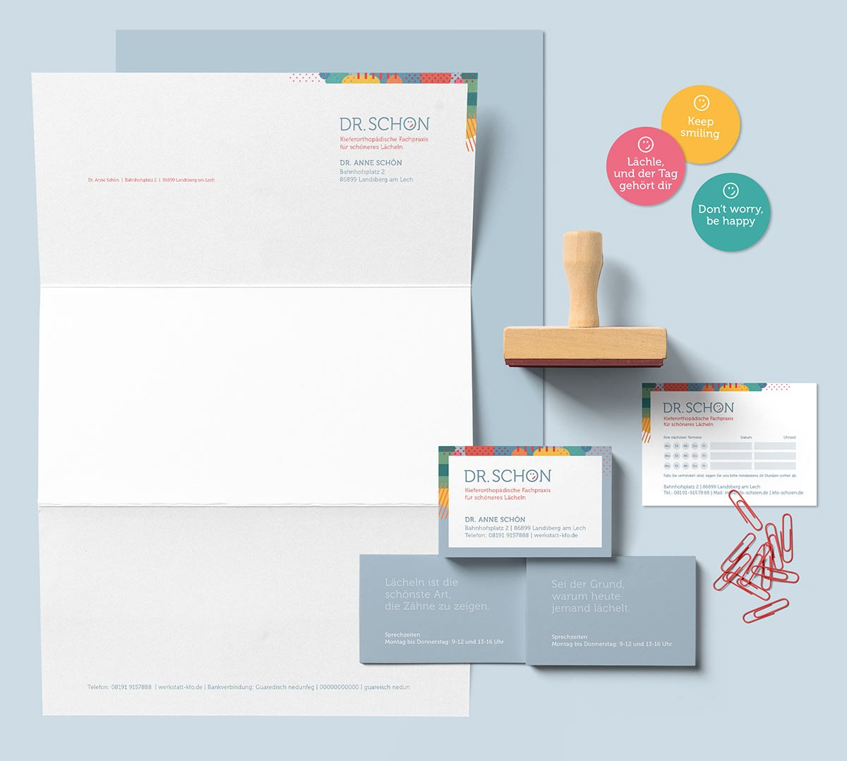 Coporate Design, Briefbogen, Visitenkarten, Aufkleber, Terminkarte - Grafik Designerin Carmen Christ